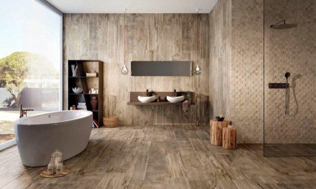 Van een saaie badkamer naar een landelijke badkamer