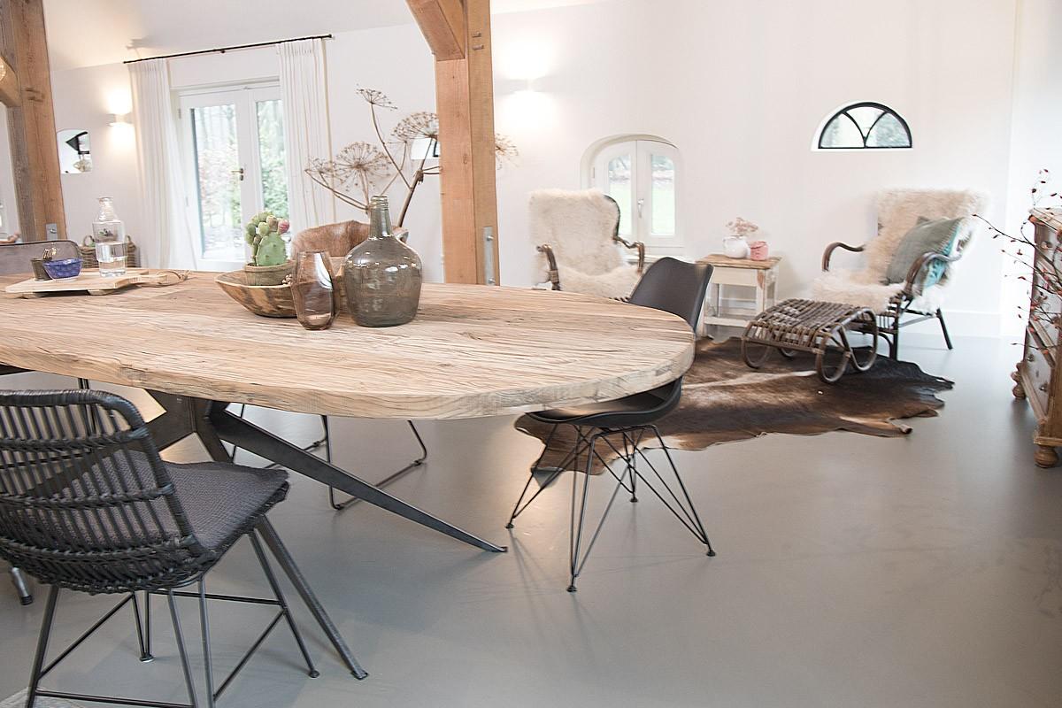 Eiken tafels van Meneer van Hout   Landelijkwonen blog