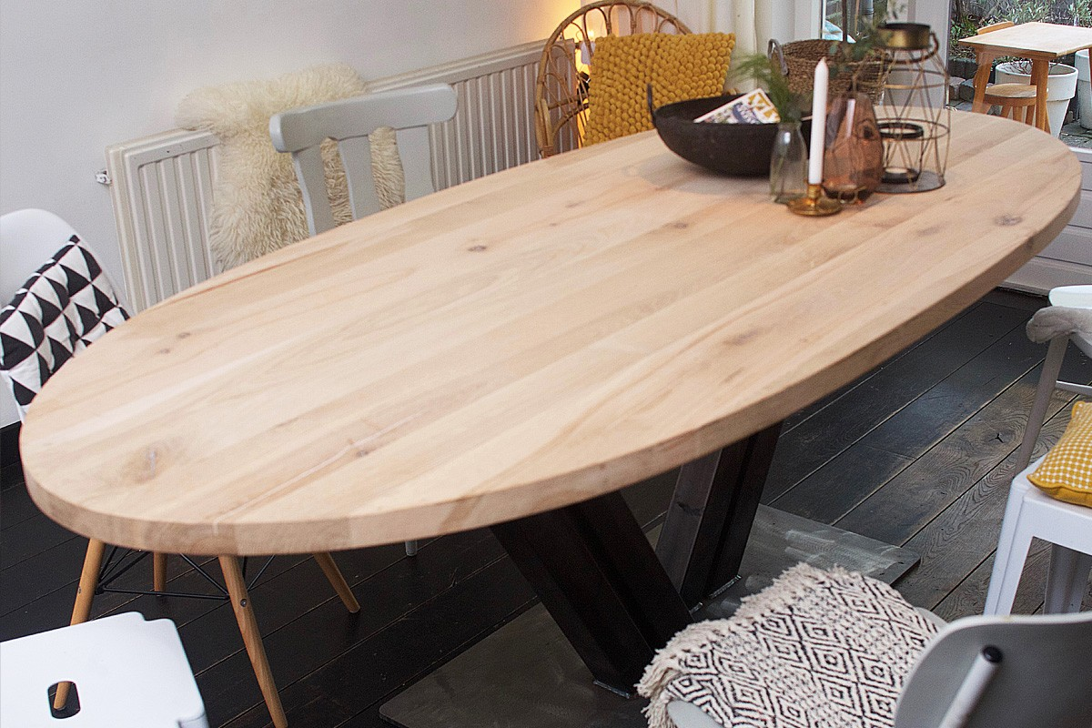 Houten ronde tafel ronde houten tafel tafels en bijzettafels industriele ronde tafel oud wagon - Grote ronde houten tafel ...