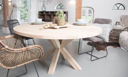 Ronde houten tafels, een echte eyecatcher!